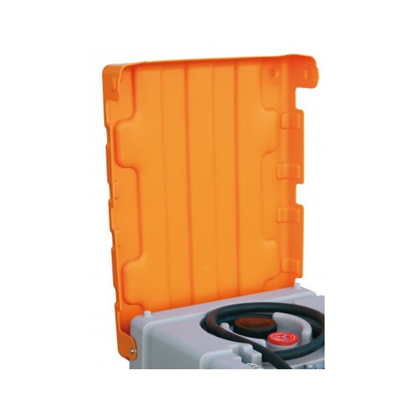 Klappdeckel - orange - für 125 l + 200 l